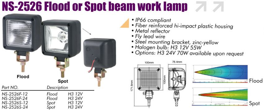 Sirius Product Flood Or Spot Beam Work Lamp Ns 2526